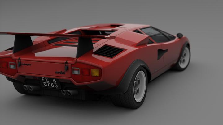 Cgtalk Lamborghini Countach Lp500s Walter Wolf Special Lowpoly